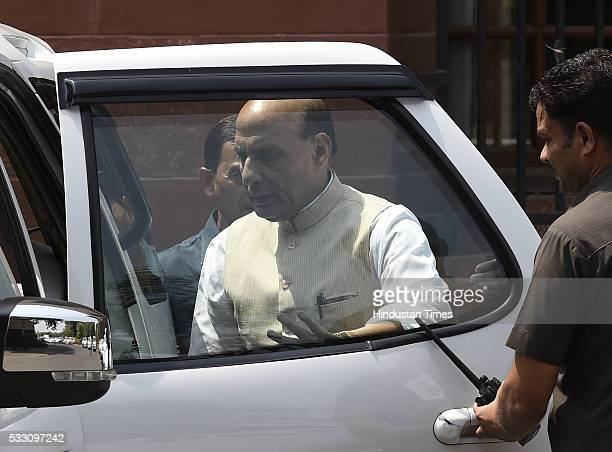 Union Home Minister Rajnath Singh after Cabinet Meeting at Prime Minister's Office South Block on May 20 2016 in New Delhi India The Centre today...