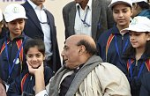 IND: Union Home Minister Rajnath Singh Meets Children From Jammu And Kashmir State