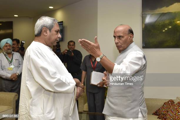 Union Home Minister Rajnath Singh with Chief Minister of Odisha Naveen Patnaik before the 11th Standing Committee Meeting of the InterState Council...