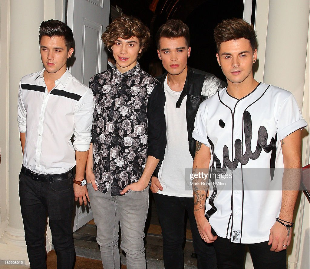 Union J attending the Claire's Accessories party on October 22, 2013 in London, England.
