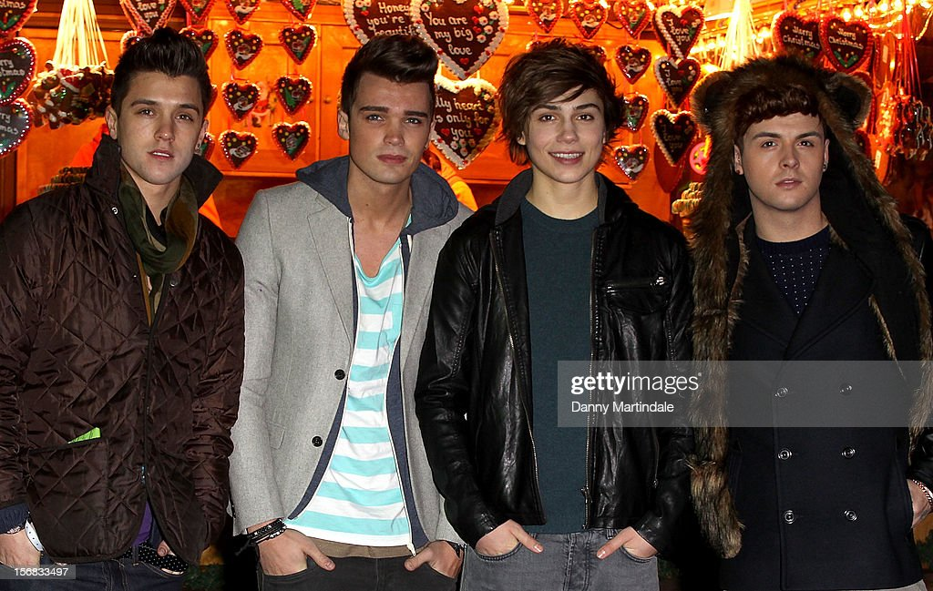 'Union J' from the X Faxtor attend the Winter Wonderland launch party at Hyde Park on November 22, 2012 in London, England.