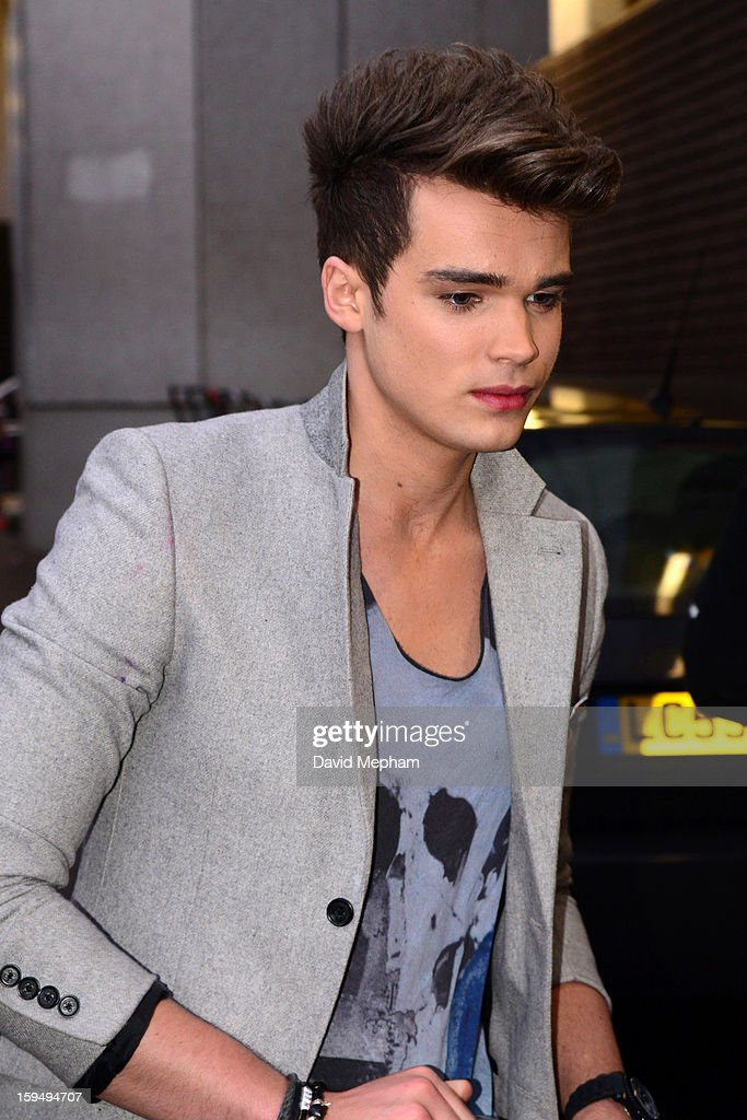 Union J member Josh Cuthbert leaves the ITV Studios on January 14, 2013 in London, England.
