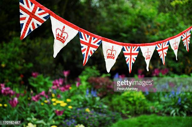 Union Jack Bunting Colorful English Garden Celebrating Royal Baby