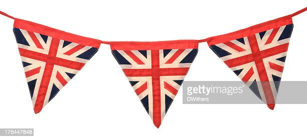Union Jack Bunting Three Triangular Flags