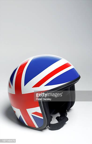 Union Jack crash helmet