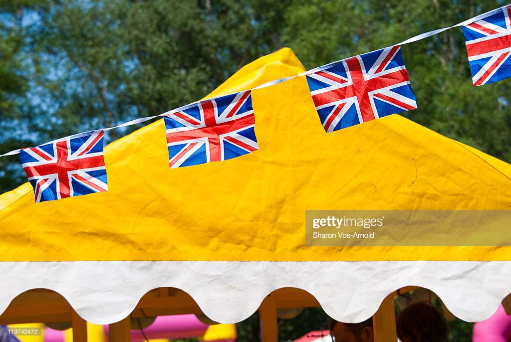 Union Jack flag bunting at fete