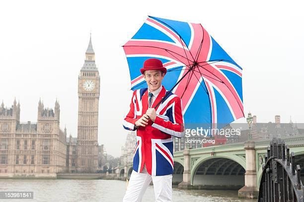 Union Jack homem em Londres