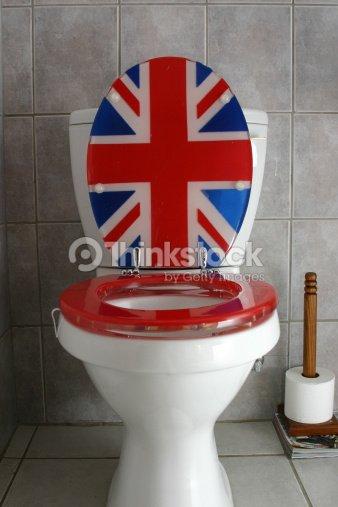 union jack toilet seat. Union Jack Toilet  Stock Photo Jack Toilet Thinkstock