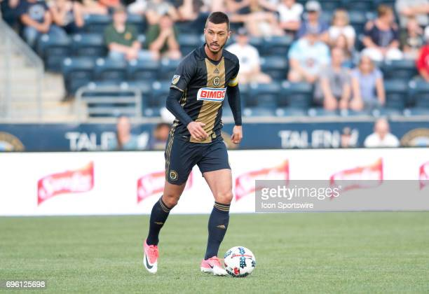 Union Midfielder Haris Medunjanin carries the ball in the first half during the US Open Cup Game between the Harrisburg City Islanders and the...