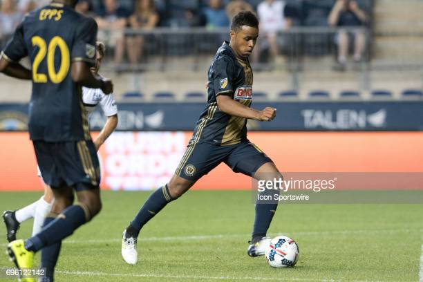 Union Midfielder Roland Alberg shoots in the second half during the US Open Cup Game between the Harrisburg City Islanders and the Philadelphia Union...