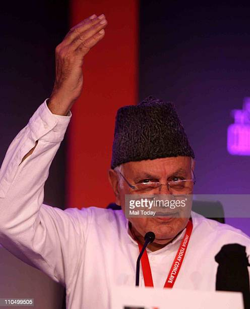 Union Minister Dr Farooq Abdullah speaking during 10th India Today Conclave being held in the capital on March 1819 2011 at Taj Palace Hotel