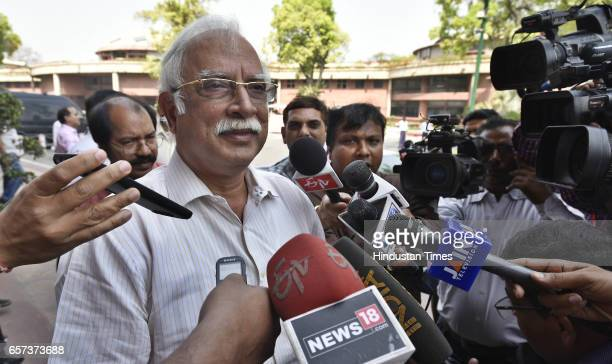 Union Minister for Civil Aviation Pusapati Ashok Gajapathi Raju talking to media persons on the issue of Shiv Sena MP Ravindra Gaikwad who admitted...
