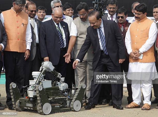 Union Minister for Science and Technology Dr Harsh Vardhan during the 102nd Indian Science Congress exhibition being held at BandraKurla Complex on...