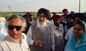 Union Minister for the Department of Rural development Jairam Ramesh Punjab Chief Minister Parkash Singh Badal Bathinda MP Harsimrat Kaur Badal...