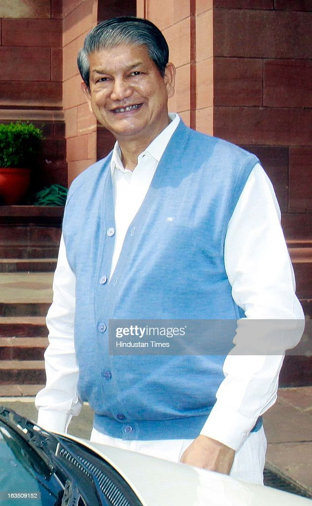 Union Minister for Water Resources, Harish Rawat during the ongoing parliament budget session on March 11, 2013 in New Delhi, India.