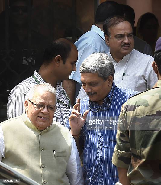 Union Minister Minister for Micro Small and Medium Enterprises Kalraj Mishra with Union Defence Minister Manohar Parrikar and Ananth Kumar after...