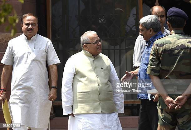 Union Minister Minister for Micro Small and Medium Enterprises Kalraj Mishra with Union Defence Minister Manohar Parrikar and Union Minister for...