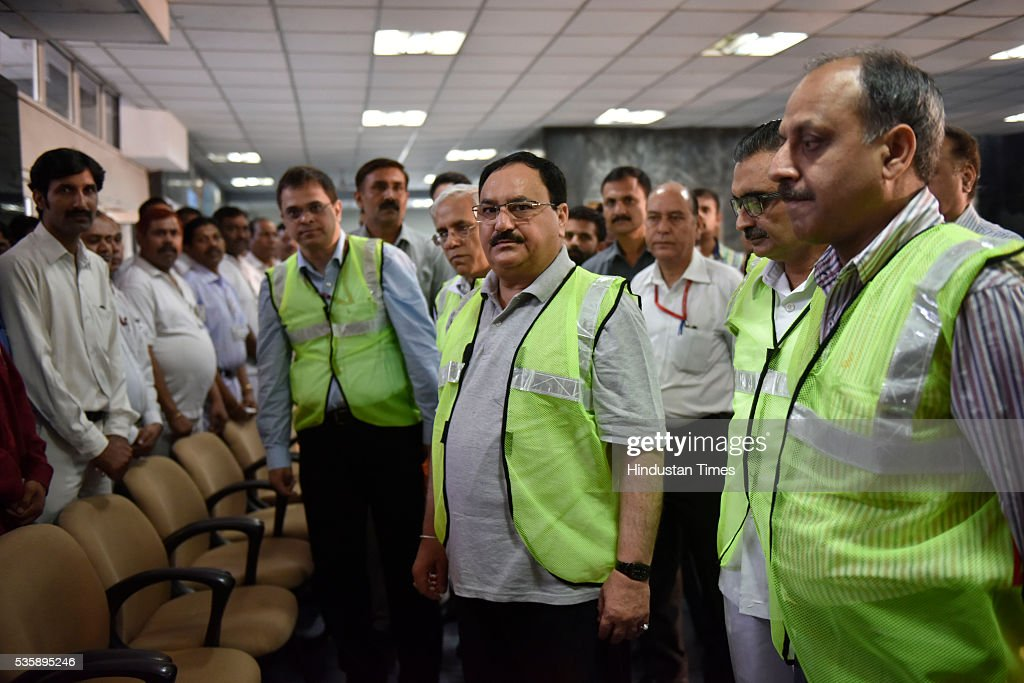 Union Minister of Health and Family Welfare JP Nadda visited AIIMS to review the activities under Kayakalp initiative on May 30, 2016 in New Delhi, India. The minister had taken stock of the sanitation and hygiene practices in place at the premier health institute as part of the Kayakalp Fortnight launched in line with the Modi governments Swachch Bharat Abhiyaan. The Fortnight will be observed throughout the country in various central government hospitals till 3rd June.