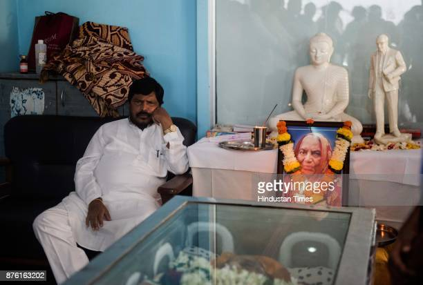 Union Minister Ramdas Athawale's mother Housabai Bandu Athawale die early today at a hospital on November 16 2017 in Mumbai India She was 88 She...