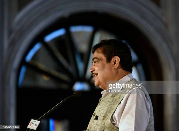 Union Minister Road Transport Highways Shipping and Water Resources River Development Ganga Rejuvenation Nitin Gadkari speaks during the 5th...