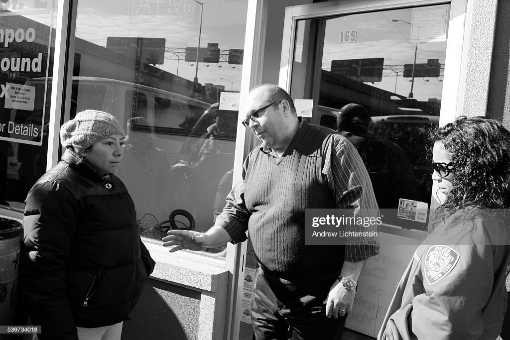 A union organizer negotiates with a car wash owner's association mediator to receive back pay for workers who were fired for going on strike Car wash...