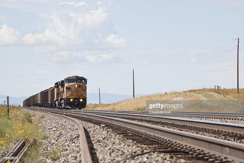 Union Pacific Railroad train approaching