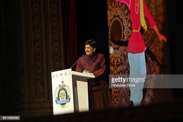 Union Power Minister Piyush Goyal during the first Pravasi Haryana Divas organised by Government of Haryana with Confederation of Indian Industry at...