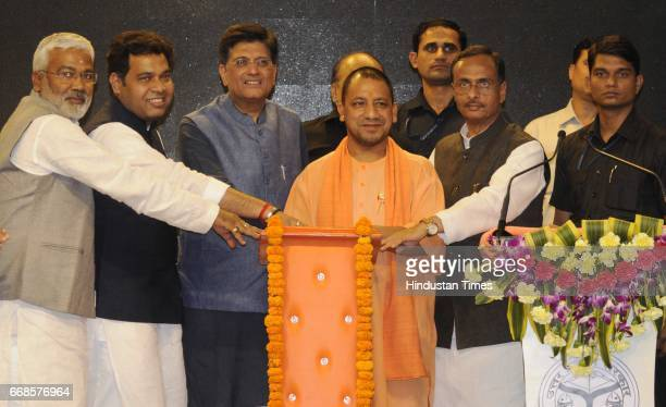 Union power minister Piyush Goyal inaugurating the power for all programme in the presence of Uttar Pradesh chief minister Yogi Adityanath deputy...