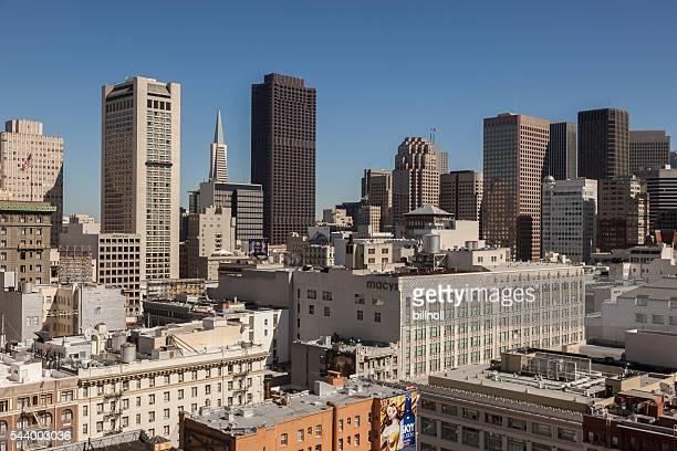 Union Square area of downtown San Francisco, California, USA
