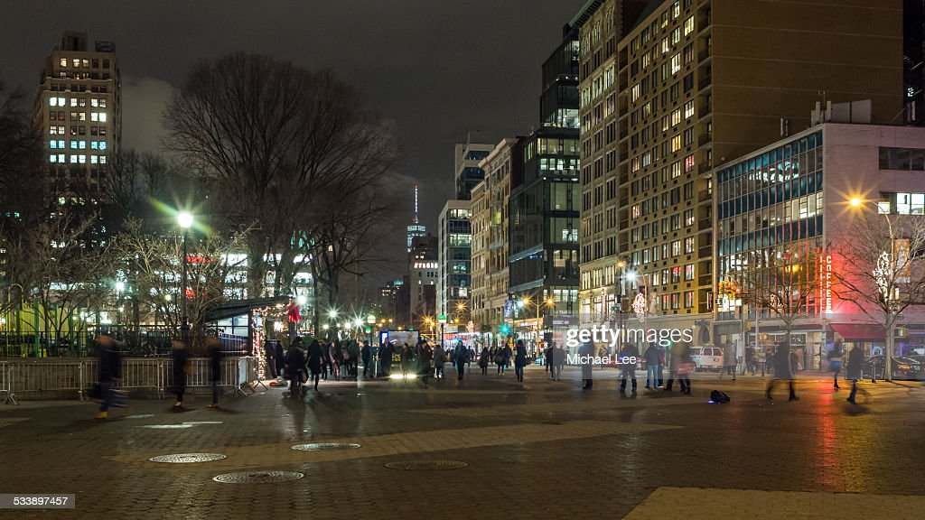 Union Square Night Scene (New York)