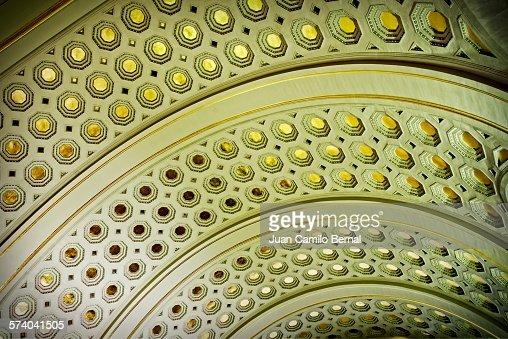Union Station ceiling in Washington DC