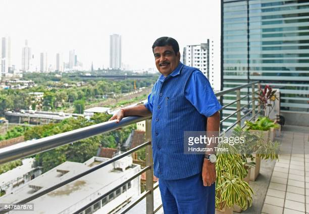 Union Transport Minister Nitin Gadkari visits Hindustan Times office at Indiabulls Finance Center on September 15 2017 in Mumbai India Nitin Gadkari...
