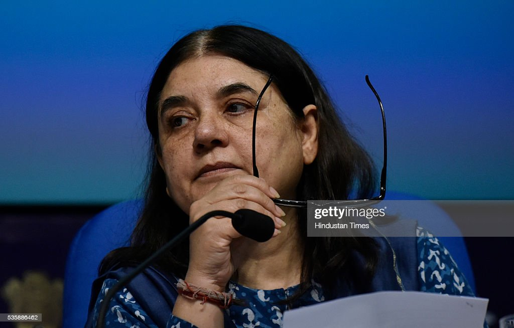 Union Women and Child Development Minister Maneka Gandhi releases the Draft Trafficking of Persons Prevention, Protection and Rehabilitation Bill 2016 on May 30, 2016 in New Delhi, India. The new bill aims to check human trafficking by unifying several existing laws, meting out tougher punishment for repeat offenders and ensuring the protection and rehabilitation of victims.