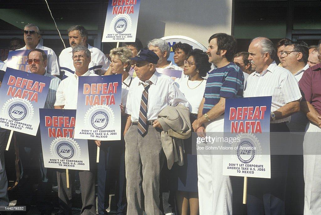 Union workers protesting NAFTA, Washington DC