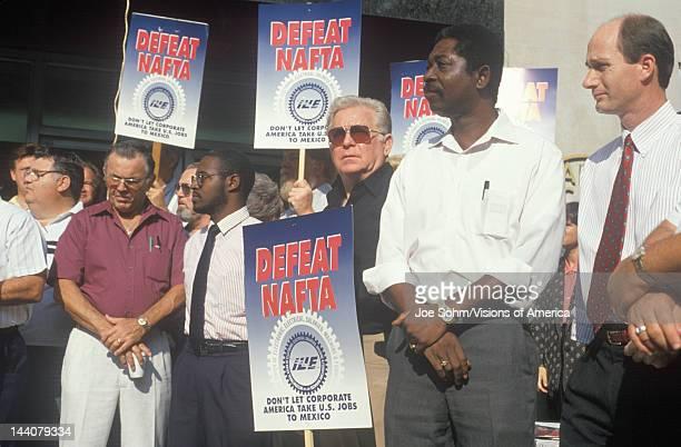 Union workers protesting NAFTA Washington DC