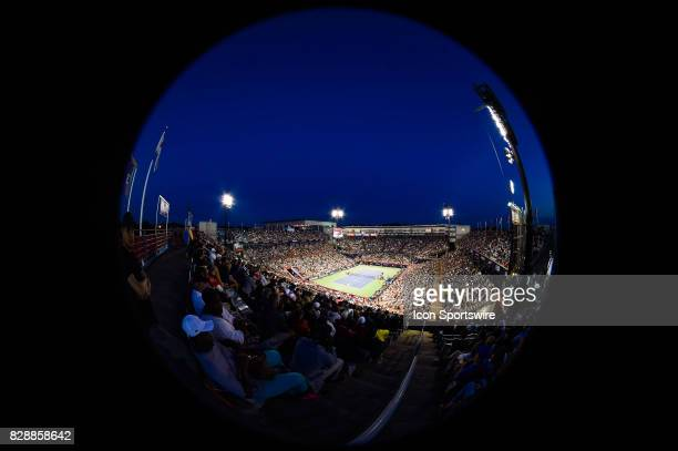 Uniprix Stadium fisheye view during his second round match at ATP Coupe Rogers on August 9 at Uniprix Stadium in Montreal QC