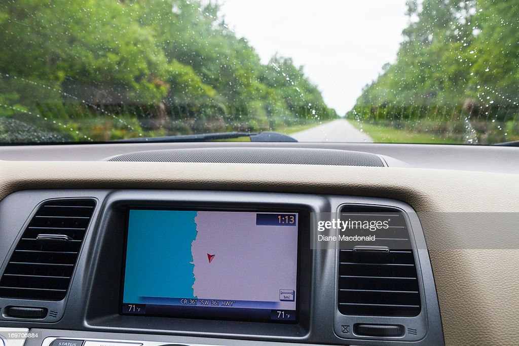 GPS unit shows the road to nowhere