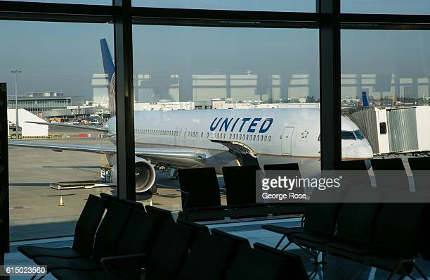 United Airlines 787 prepares to depart from London Heathrow International Airport's Terminal 2 on September 13 in London England The collapse of...