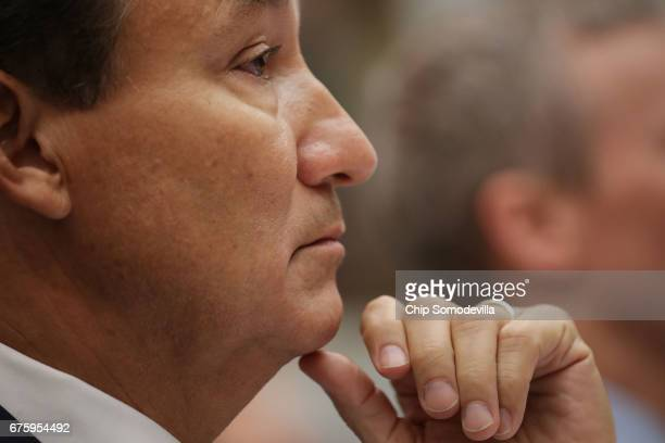 United Airlines CEO Oscar Munoz testifies before the House Transportation and Infrastructure Committee about oversight of US airline customer service...