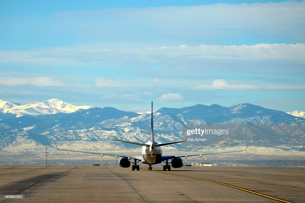 A United Airlines flight waiting for word to take off at Denver International Airport February 19 2015 Denver CO