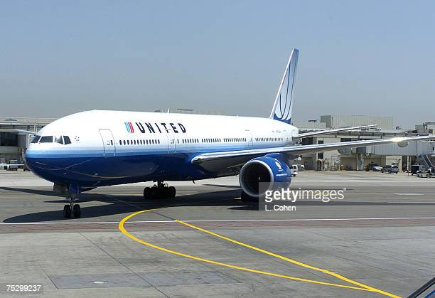 United and Sony Connect 'Concert In The Sky' airplane arrives at LAX