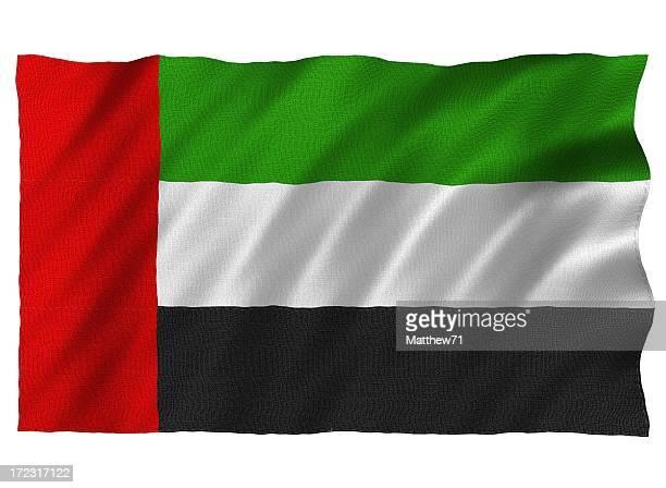 United Arab Emirates 3D flag on white