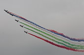 United Arab Emirates air force performs air show on November 12 2014 in Zhuhai Guangdong province of China The 10th China International Aviation...