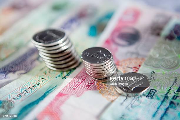 United Arab Emirates Currency - Dirhams. Dubai, United Arab Emirates