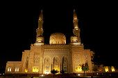 United Arab Emirates, Dubai, Jumeirah Mosque, night