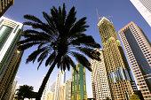 United Arab Emirates, Dubai, skyscrapers on on Sheikh Zayed Road