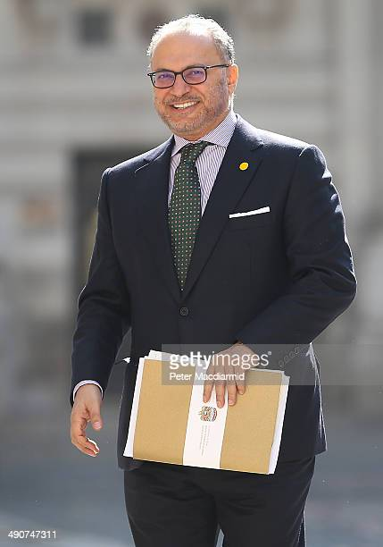United Arab Emirates Minister of State Dr Anwar Gargash arrives at the Foreign and Commonwealth Office to attend a Friends Of Syria meeting on May 15...