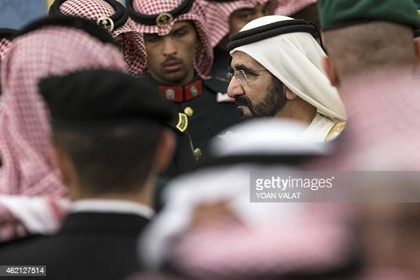 United Arab Emirates Prime Minister and Dubai Ruler Sheikh Mohammed bin Rashid alMaktoum attends a ceremony with dignitaries and leaders from around...
