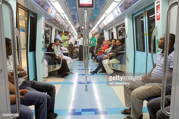 United Arab Emirates UAE UAE Middle East Dubai Deira Palm Deira Metro Station Green Line subway public transportation cabin A