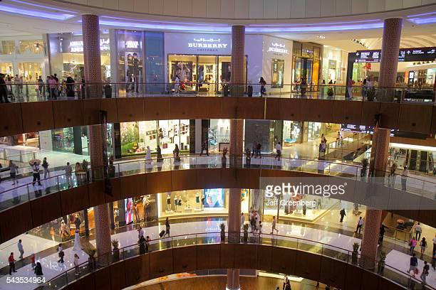 United Arab Emirates UAE UAE Middle East Dubai Downtown Dubai Burj Dubai Mall shopping fashion store atrium levels Burberry